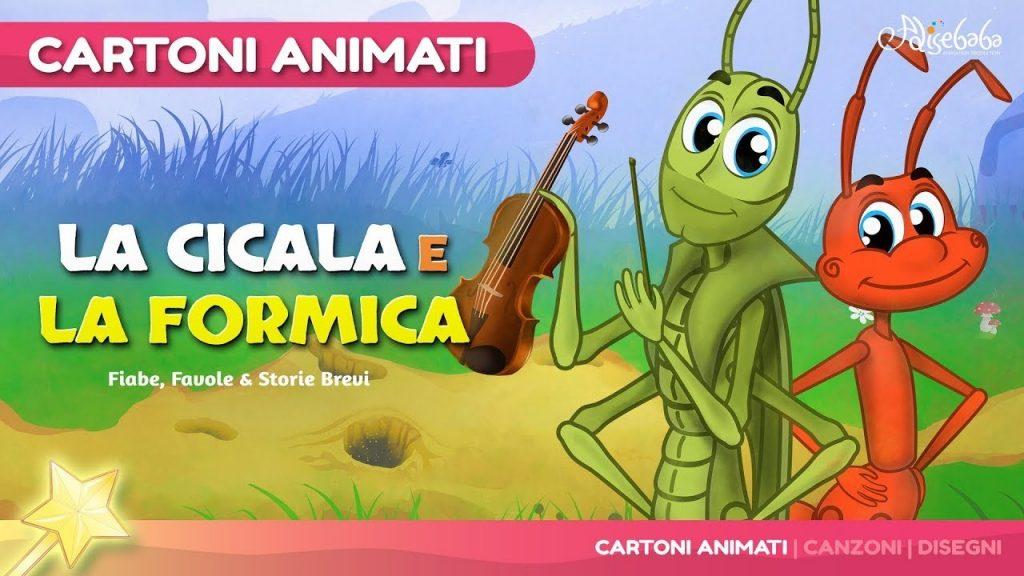 La Cicala e la Formica (The Grasshooper and the Ant) Cartone Animati |  Storie per Bambini - YouTube